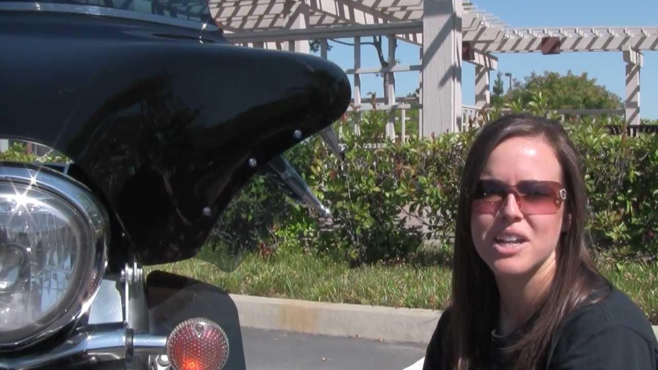 harley davidson flh wind deflectors from memphis shades - youtube
