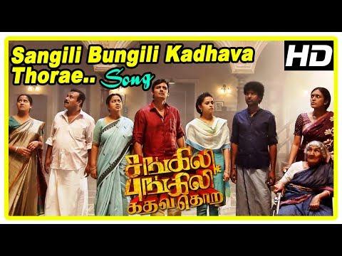 Sangili Bungili Kadhava Thorae Scenes | Sangili Bungili Song | Strange occurrences at the house