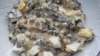 Салат из морской капусты с яйцом  Пошаговый рецепт