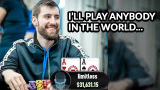 High Stakes Poker End Boss Issues Challenge To World... - YouTube