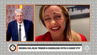 Giorgia Meloni Da Mario Giordano: Il Coronavirus Si Deve Affrontare Con Fermezza. Da Non Perdere!