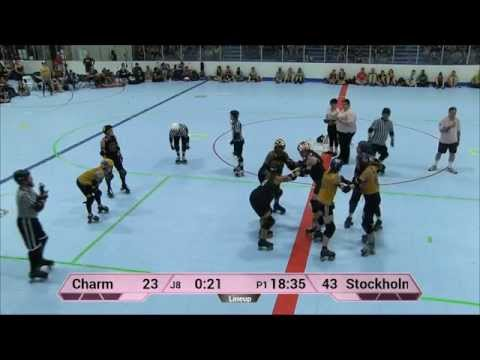 ECDX 2015: Charm City Roller Girls vs  Stockholm Roller Derby