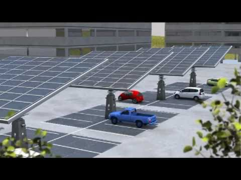 Parking Canopy: Renewable Solar Power & Charging Station