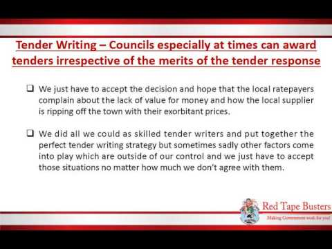 Tender Writing – Councils can award tenders irrespective of the merits of the tender response