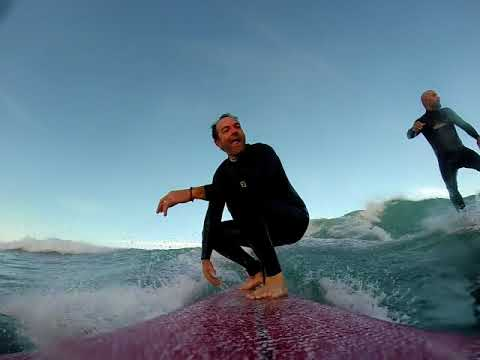 Surfing with Friends in Biarritz France.  Cenitz