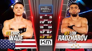 Full Fight | Loik Radzhabov vs Chris Wade (Lightweight Semifinals) | 2019 PFL Playoffs
