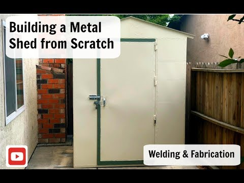 Building a Metal Shed from Scratch.  Welding & Fabrication . Steel Shed