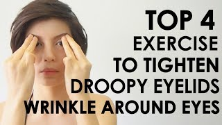 TOP 4 EXERCISE TO TIGHTEN DROOPY EYELIDS  WRINKLE AROUND EYES #iHealthiness