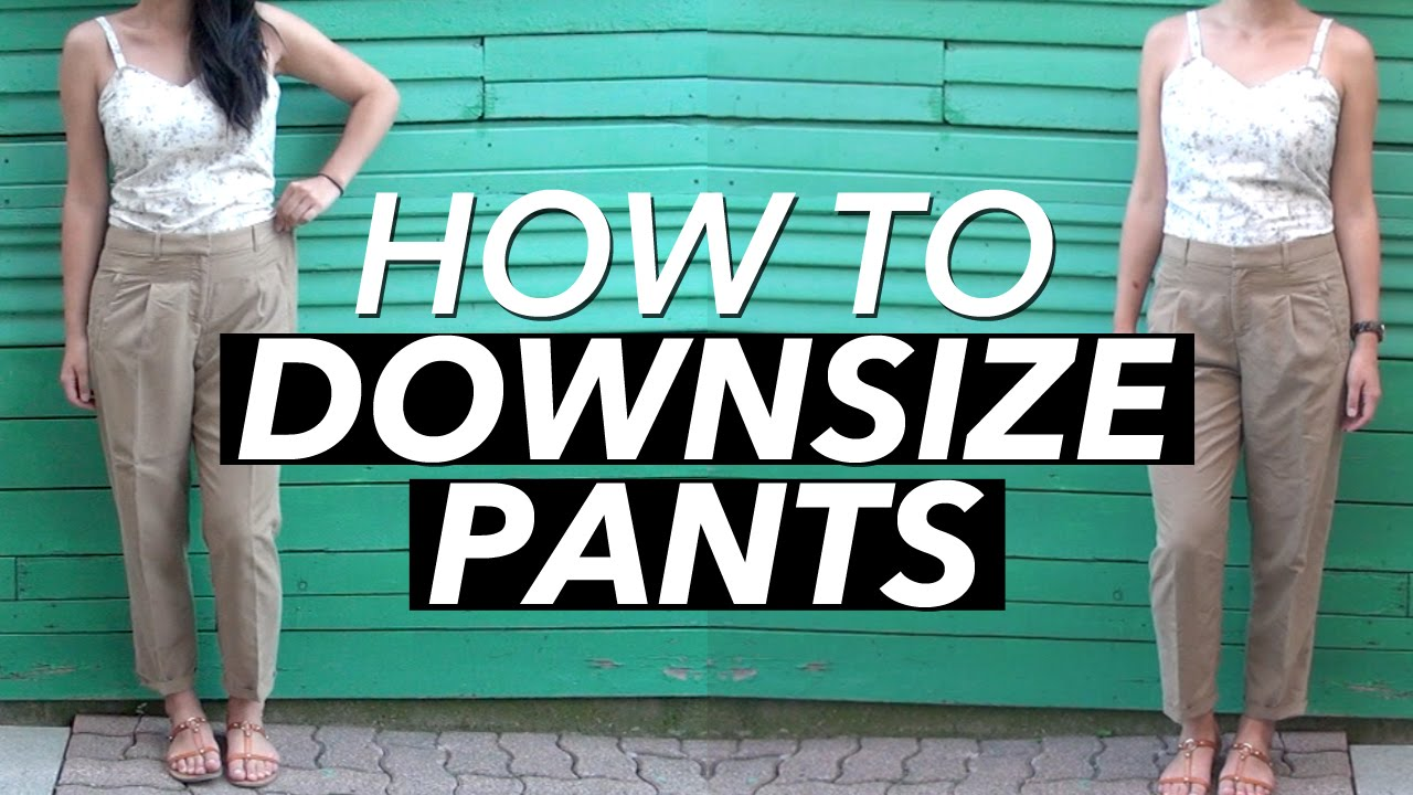 340a0ee1d50717 How to Downsize a Pair of Pants | WITHWENDY - YouTube