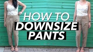 How to Downsize a Pair of Pants | WITHWENDY