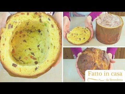 Panettone ripieno di Gelato   Panettone Ice Cream Cake (come riciclare un panettone)