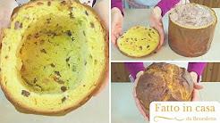 Panettone ripieno di Gelato | Panettone Ice Cream Cake (come riciclare un panettone)