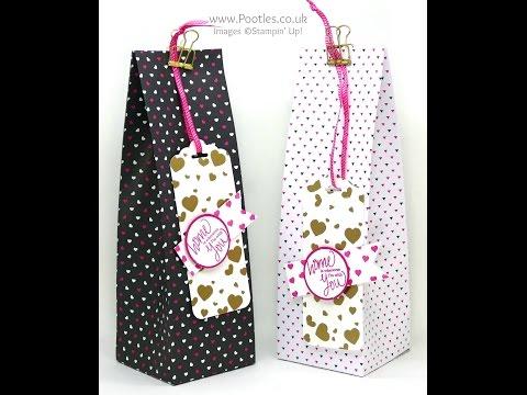 Huge Pinch Close Bag using Stampin' Up! Pop of Pink