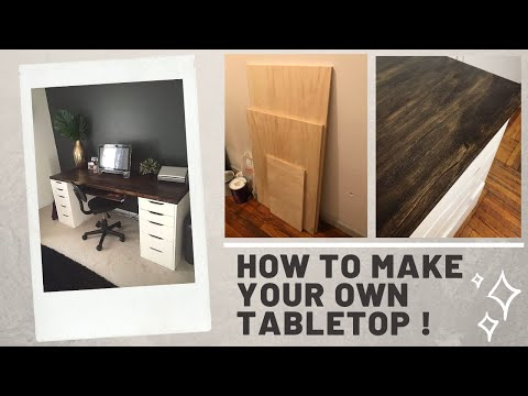 HOW TO MAKE YOUR OWN TABLE TOP UNDER $60 (DIY OFFICE DESK)