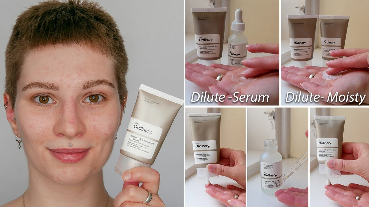 How To Use The Ordinary Vitamin C Suspension 30 In Silicone Full Demonstration On Face Youtube