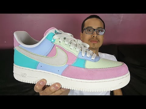 buy popular 18fad bbe1f This Is Actually A Mens Shoe! Nike Air Force 1 '07 QS Easter 2018 Review!!!