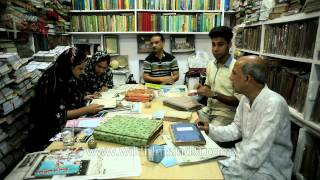 Students at Hazrat Shah Waliullah Public Library
