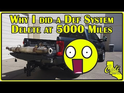2019 Ford F250 Superduty 6.7L Powerstroke DEF & DPF Delete at ONLY 5000 Miles!