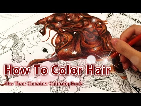 - How To Color Hair Adult Coloring Book: The Time Chamber By Daria Song -  YouTube