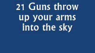 21 Guns by Green Day with lyrics (karaoke)