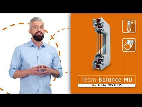 Duże przeszklenia z oknami Team Balance MD