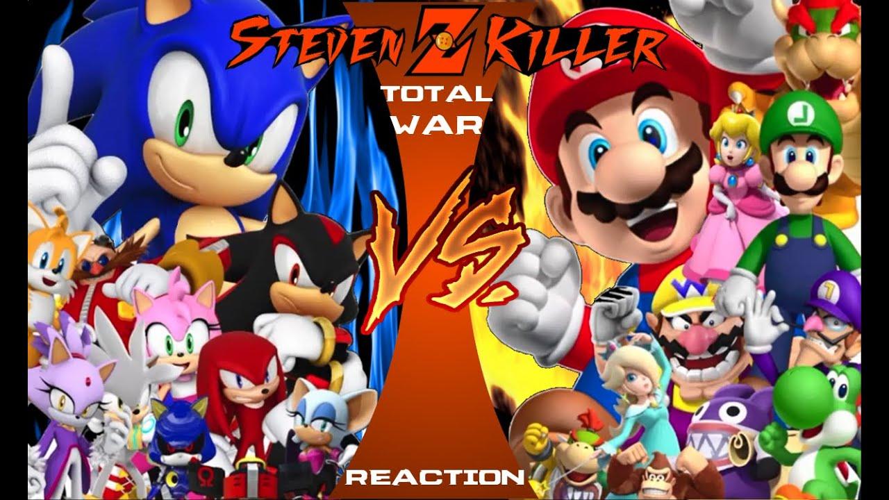 MARIO vs SONIC TOTAL WAR! FULL EPISODE! Cartoon Fight Club