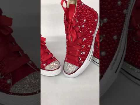 Chanel s Bling Red Passion Bling Chucks - YouTube 72ecf500c