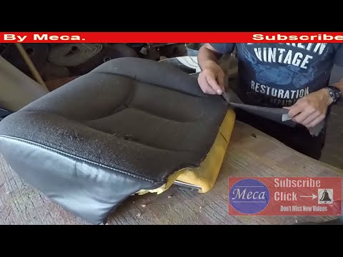 How to Make  Chevy truck bottom cushion all new.