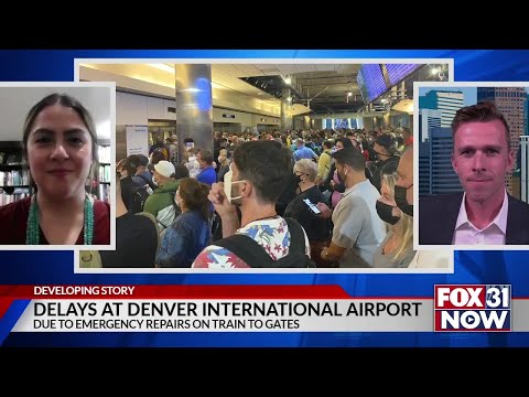 Lengthy delays at Denver airport due to emergency train repairs