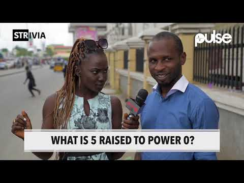 What is 5 raised to power 0? | Strivia | Pulse TV
