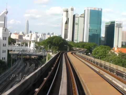 Kuala Lampur Station to Chinatown rail travel