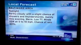 TWC Intellistar: Heat Wave on 5-28-12 (10:15 a.m.)