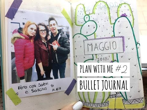 CACTUS!!! PLAN WITH ME #2 (MAY) | Bullet Journal - Foto con Anima e LaSabriGamer!