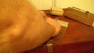 Cutting Balsa Wood Straight And Square Using Older Tools.wmv