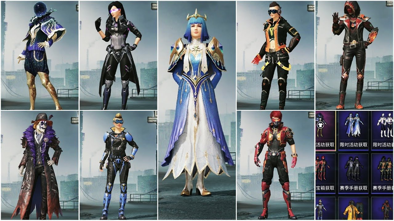 OP Outfits You Need To See In Pubg Mobile Chinese Version (Game For Peace)   All Outfits Of PUBGM CN