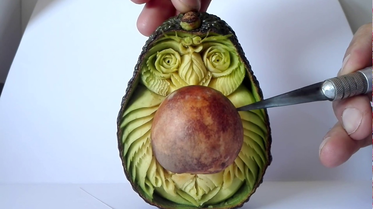 Scuruchi avocado carving stone carving fruit carving youtube