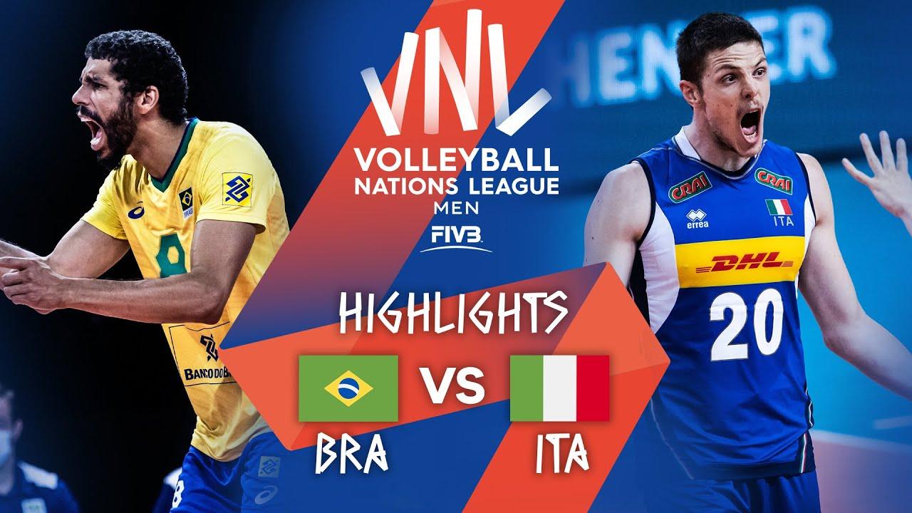 Download BRA vs. ITA - Highlights Week 5 | Men's VNL 2021