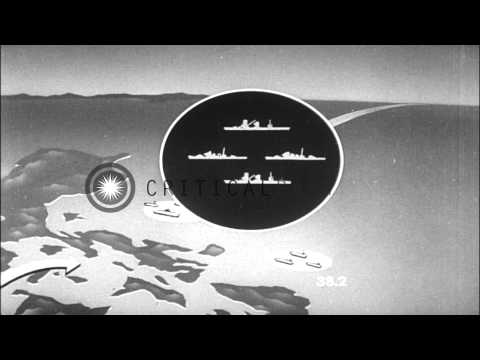 Battle for Leyte Gulf between the Allied Naval Air Forces and the Japanese Naval ...HD Stock Footage
