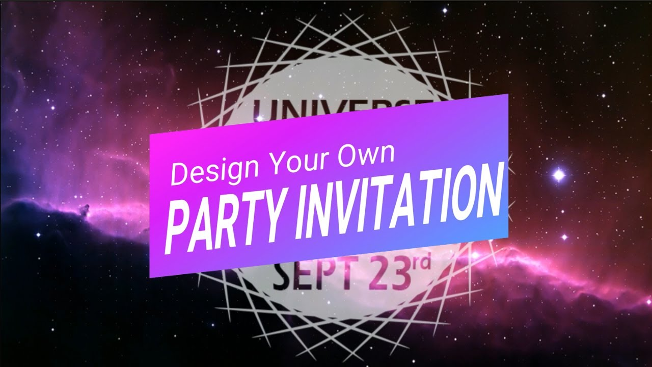 design your own party invitation photoshop tutorial youtube