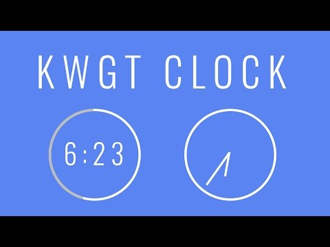 KWGT Tutorial: Digital And Analog Clock