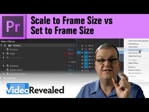 Set to Frame Size vs Scale to Frame Size