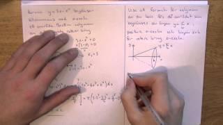 Matematik 4 - Integraler del 7 - Rotation kring x-axeln