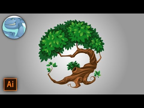 Decorative tree. Vector drawing with Adobe Illustrator. thumbnail