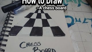 How to Draw- A Chess board (in perspective)