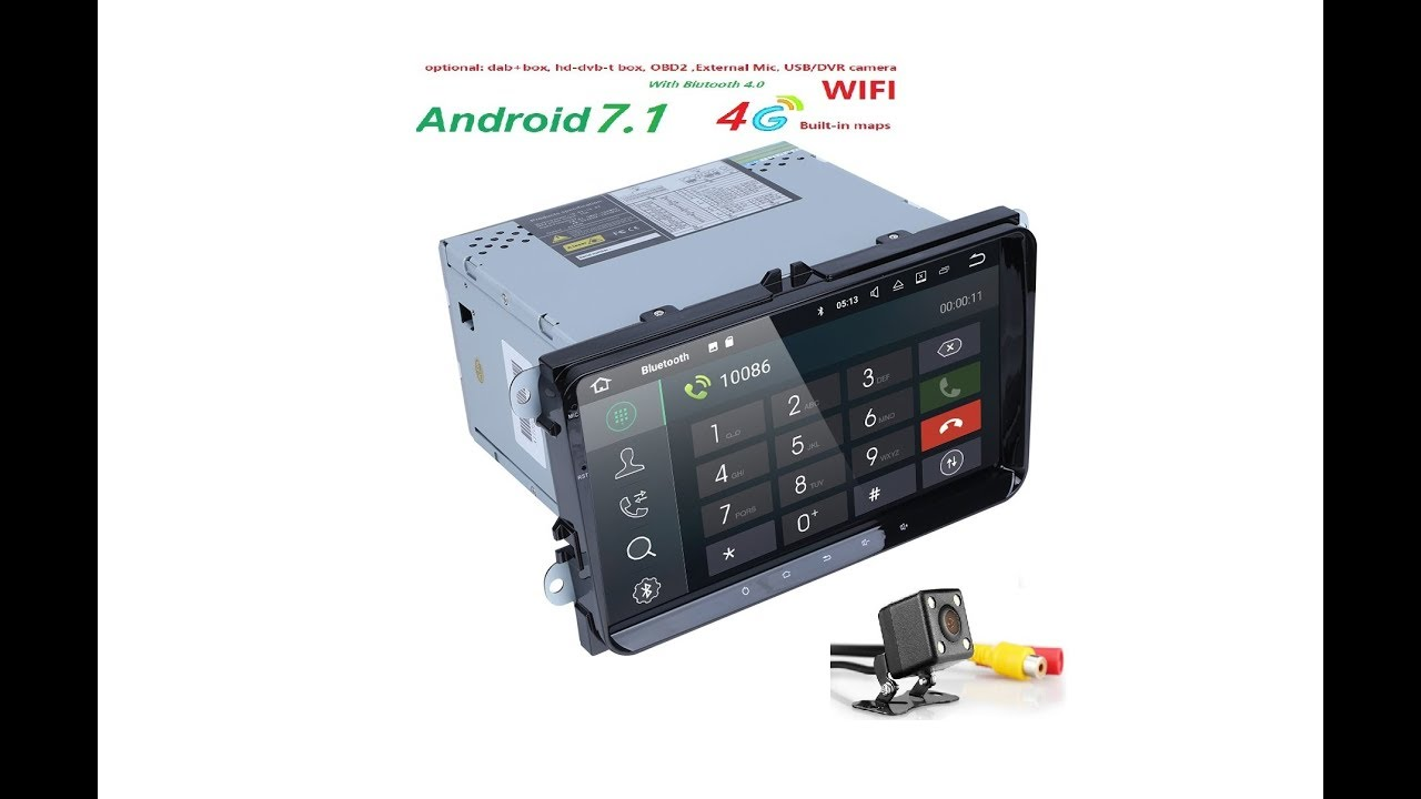 hizpo autoradio 9 inch 2din gps android 7 quand core car stereo test youtube. Black Bedroom Furniture Sets. Home Design Ideas