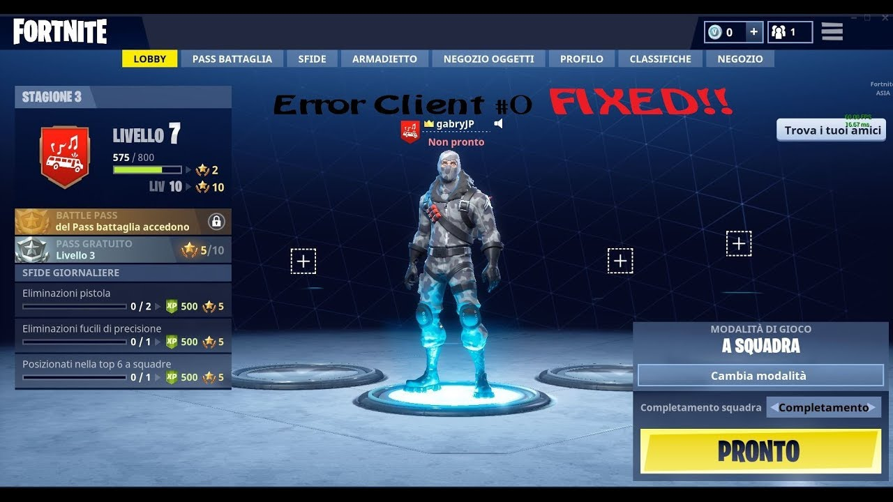 Fortnite Client how to fix the error client 0 (fortnite fixed error bug