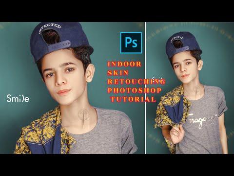 Indoor Skin Retouching Photoshop Tutorial   Photoshop Indoor Editing Background   One-Click Editing