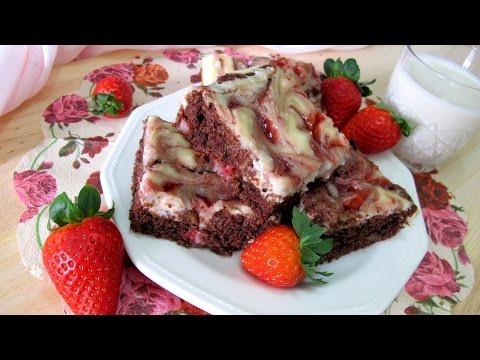Brownie Cheesecake Fresa VEGANO ¡MUY FACIL! Delicioso Sin tofu