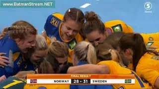 Sweden - Norway second half women handball Germany 2017