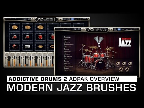 Addictive Drums 2 ADpak Overview: Modern Jazz Brushes